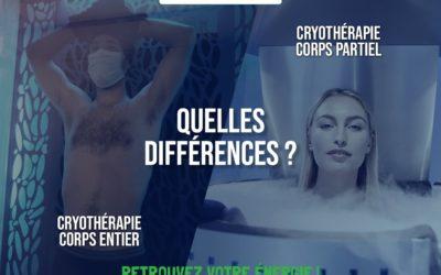 Différence cryothérapie corps partiel corps entier